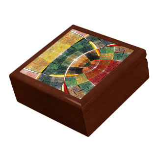 colorful abstract design large square gift box