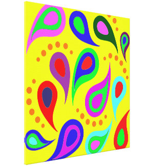 Colorful Abstract Design Paisley Canvas Wrap Print
