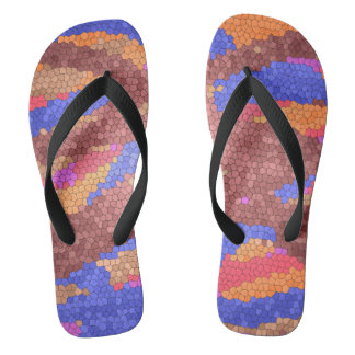 Colorful Abstract Design Pattern Flip Flops