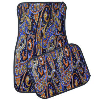 Colorful Abstract Design Set of 4 Car Mats Floor Mat