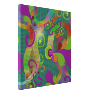 Colorful Abstract Design Wrapped Canvas Print