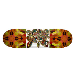 Colorful Abstract Designs Skateboard
