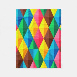 Colorful Abstract Diamond Shape Background Fleece Blanket