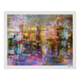 Colorful Abstract Digital Art Poster