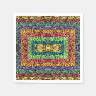 Colorful Abstract Disposable Serviette