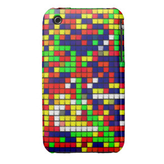 Colorful Abstract Fabric pattern iPhone 3 Case-Mate Case