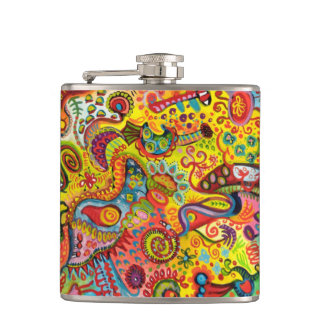 Colorful Abstract Flask - Psychedelic Detailed Art