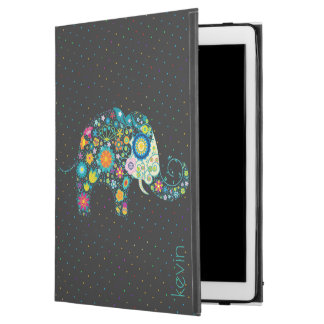 """Colorful Abstract Floral Elephant & Dots Pattern iPad Pro 12.9"""" Case"""