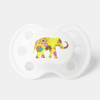 Colorful Abstract Floral Elephant Dummy