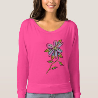Colorful Abstract Floral Wearable Art T Shirt