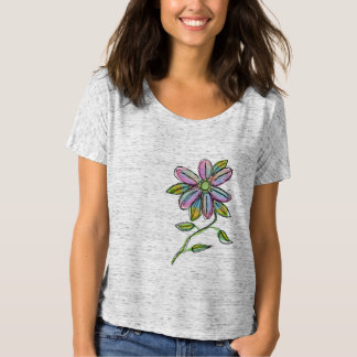 Colorful Abstract Floral Wearable Art Tees