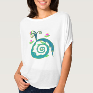 Colorful Abstract Floral Wearable Art Tshirt