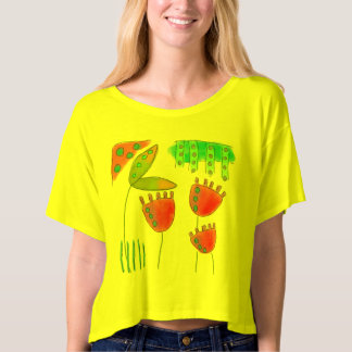 Colorful Abstract Floral Wearable Art Tshirts