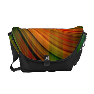 Colorful abstract Fractal Art Courier Bags