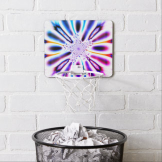 Colorful Abstract Fractal Art Mini Basketball Hoop