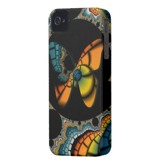 colorful abstract Fractal Butterfly Cacoon Case-Mate iPhone 4 Cases
