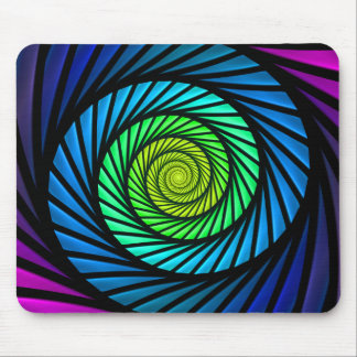 Colorful Abstract Fractal Home Office Mousepad