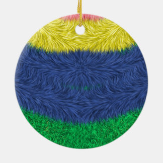 Colorful abstract furry pattern christmas tree ornament