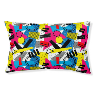 Colorful Abstract Geometric Eighties Pattern