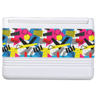 Colorful Abstract Geometric Eighties Pattern Igloo Cooler