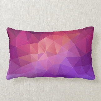 Colorful Abstract Geometric Pattern Lumbar Pillow