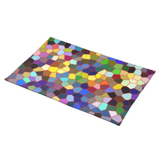Colorful Abstract geometric Pattern Place Mats