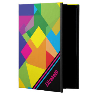 Colorful Abstract Geometric Pattern with Your Name Powis iPad Air 2 Case
