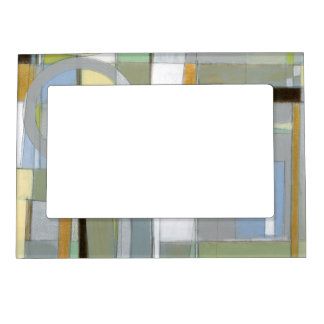 Colorful Abstract Geometric Shapes Magnetic Picture Frame