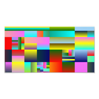 Colorful Abstract Geometry Photo Art