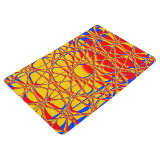 Colorful Abstract Graphic Orange And Blue Floor Mat