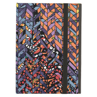 Colorful Abstract Herringbone Zig Zags Pattern Case For iPad Air