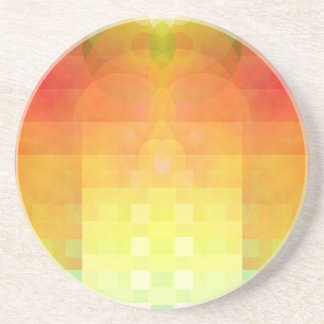 Colorful abstract image coaster