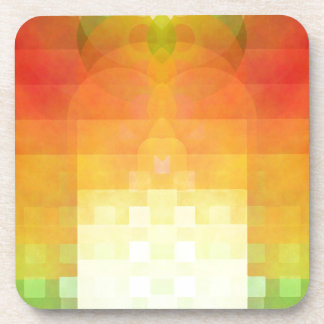 Colorful abstract image drink coaster