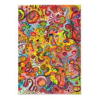 Colorful Abstract Invitations or RSVP Cards 3.5x5