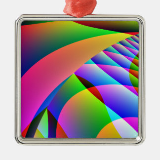 Colorful Abstract Jacobs Ladder Christmas Ornament