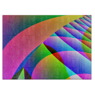 Colorful Abstract Jacobs Ladder Cutting Board