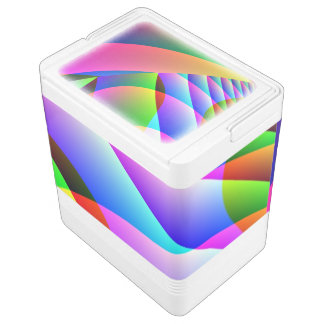Colorful Abstract Jacobs Ladder Igloo Cool Box