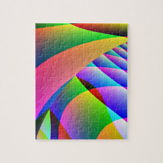 Colorful Abstract Jacobs Ladder Jigsaw Puzzle