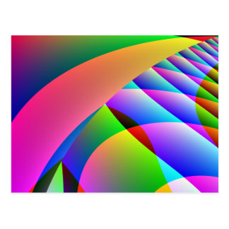 Colorful Abstract Jacobs Ladder Postcard