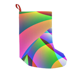 Colorful Abstract Jacobs Ladder Small Christmas Stocking