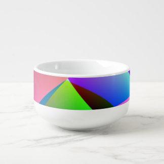 Colorful Abstract Jacobs Ladder Soup Mug