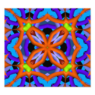 Colorful abstract kaleidoscope photographic print
