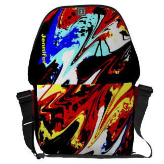 Colorful Abstract, Large Messenger Bag