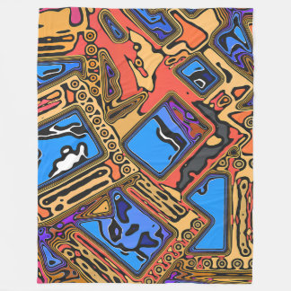 Colorful Abstract Layers Fleece Blanket