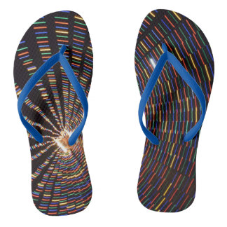 Colorful Abstract Lights Flip Flops