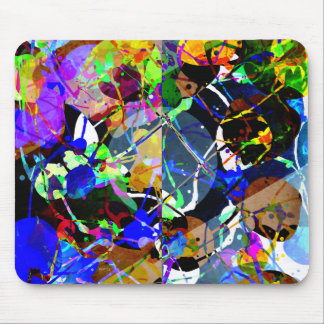 Colorful Abstract Mixed Media Mouse Pad