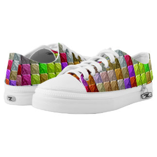 Colorful abstract modern pattern low tops