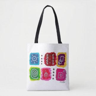 Colorful Abstract Modern Tribal Aztec Boho Tote Bag