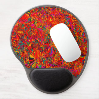 Colorful Abstract Multi Color Background Gel Mouse Pad