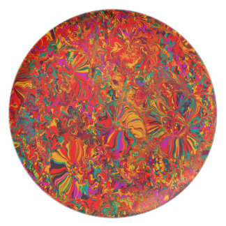 Colorful Abstract Multi Color Background Party Plate